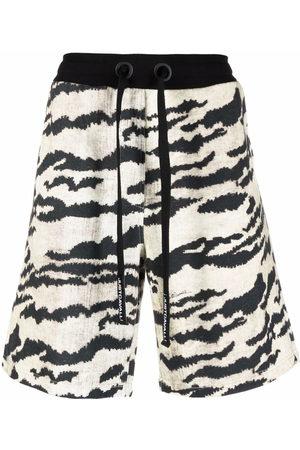 Roberto Cavalli Tiger-print drawstring shorts