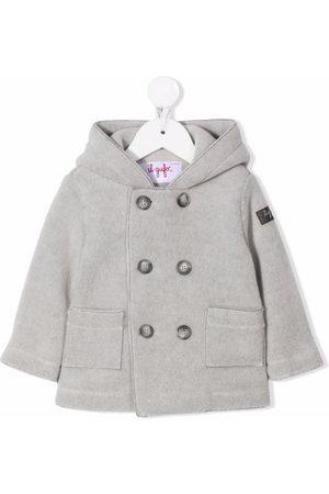 Il gufo Duffle Coat - Hooded double-breasted coat - Grey
