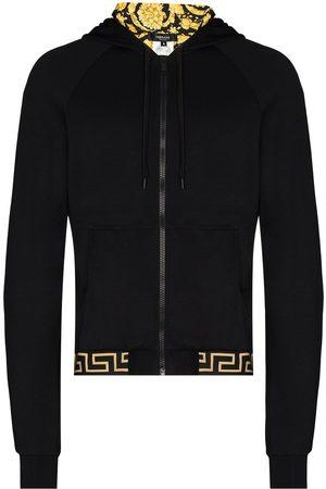 VERSACE Men Hoodies - Barocco hooded zipped jacket