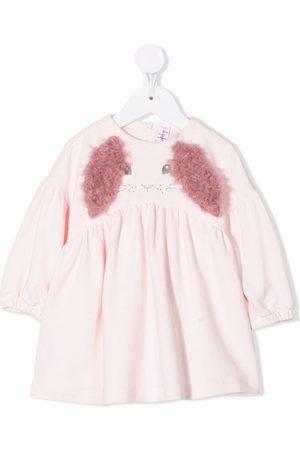Il gufo Baby Casual Dresses - Erica rabbit-motif dress