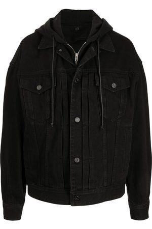 JUUN.J Men Denim Jackets - Hooded denim jacket