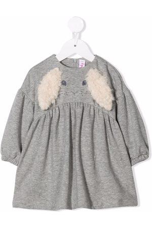 Il gufo Baby Casual Dresses - Erica rabbit-motif dress - Grey