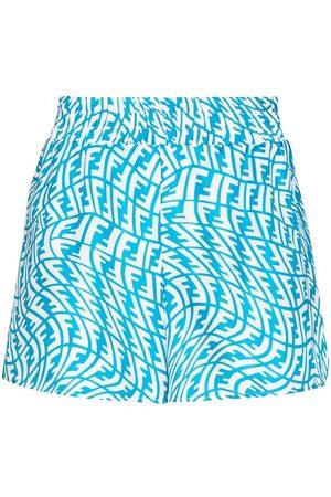 Fendi Men Bermudas - FF Vertigo pattern bermuda shorts