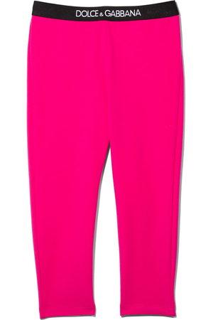Dolce & Gabbana Baby Leggings - Logo waistband leggings