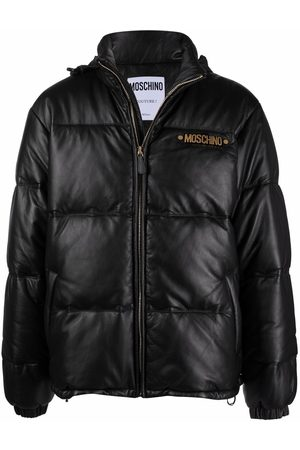 Moschino Quilted down-feather leather jacket