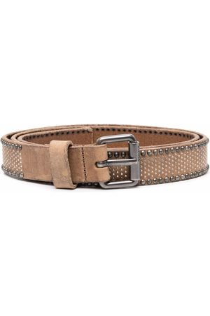 Diesel Studded leather belt - Neutrals