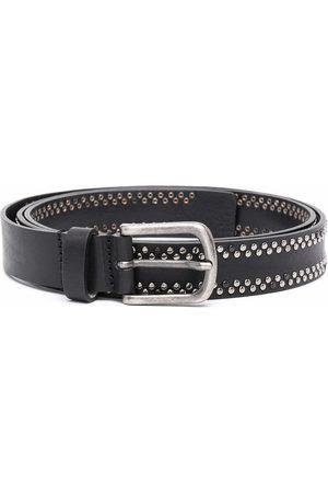 Diesel Men Belts - B-inary stud-embellished leather belt