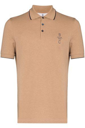 Brunello Cucinelli Men Polo Shirts - Logo-embroidered short-sleeve polo shirt