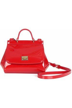 Dolce & Gabbana Girls Bags - Devotion patent leather shoulder bag