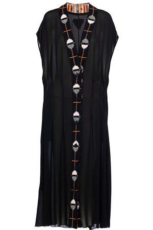 Prada Women Knitted Dresses - Sablé jacquard knit dress - Grey