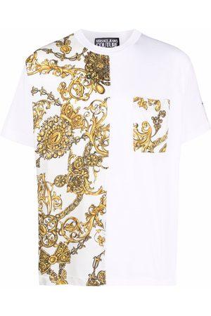 Versace Jeans Couture Men Short Sleeve - Baroque-print short-sleeved T-shirt