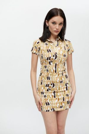 Motel Women Party Dresses - Jeeves Collared Mini Dress