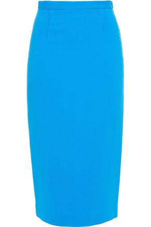 Roland Mouret Woman Arreton Stretch-crepe Pencil Skirt Azure Size 10