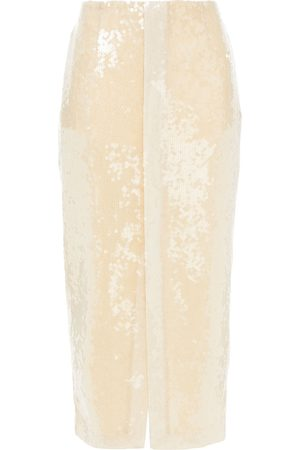 Roland Mouret Woman Nobel Sequined Tulle Midi Skirt Size 10
