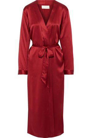 Michelle Mason Woman Leopard-print Silk-satin Robe Claret Size 0