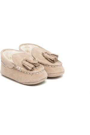 Babywalker Loafers - Tassel-detail shearling-lined loafers - Grey