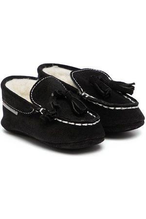 Babywalker Tassel-detail shearling-lined loafers