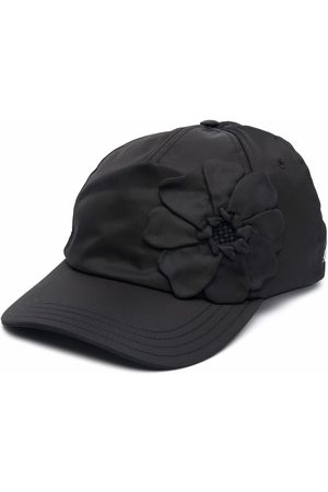 VALENTINO Men Caps - Floral-embroidered baseball cap