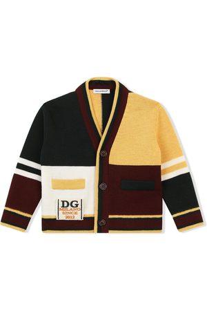 Dolce & Gabbana Cardigans - Colour-block virgin wool cardigan