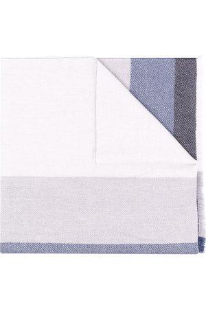 Brunello Cucinelli Men Scarves - Colour-block knit scarf - Grey
