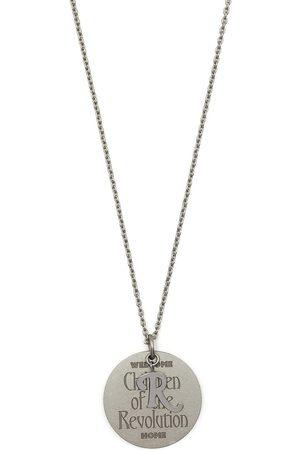 RAF SIMONS Engraved-pendant necklace