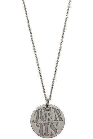 RAF SIMONS Circular-pendant clasp-fastening necklace