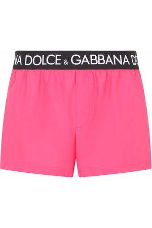 Dolce & Gabbana Men Swim Shorts - Logo-waistband swim shorts