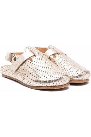 PèPè Perforated slingback leather shoes