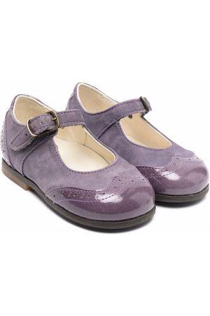 PèPè Brogue-detail buckled ballerina shoes