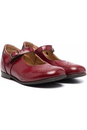 PèPè Girls Ballerinas - Brogue-detail leather shoes