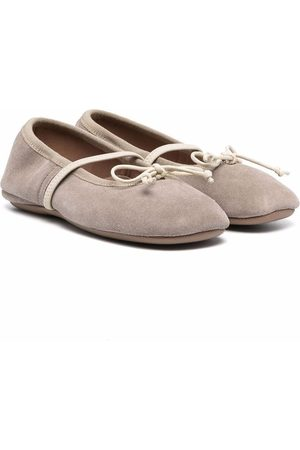 PèPè Girls Ballerinas - Suede ballerina shoes - Grey