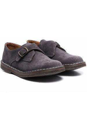 PèPè Boys Loafers - Buckle-fastening suede mocassins - Grey
