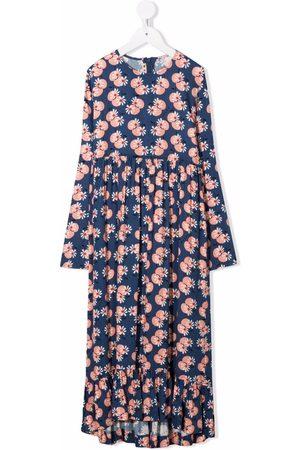 Marni Girls Printed Dresses - Floral-print maxi dress