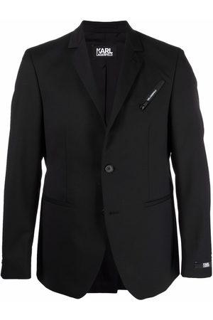 Karl Lagerfeld Men Blazers - Notched-lapels single-breasted blazer