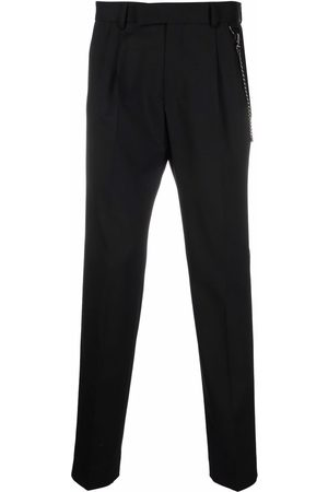 Karl Lagerfeld Chain-detail pressed-crease tailored trousers
