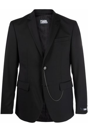 Karl Lagerfeld Chain-detail single-breasted blazer