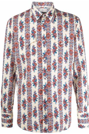 Dsquared2 Graphic-print long-sleeve shirt - Neutrals