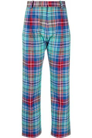 Charles Jeffrey Loverboy Martini tartan tailored trousers
