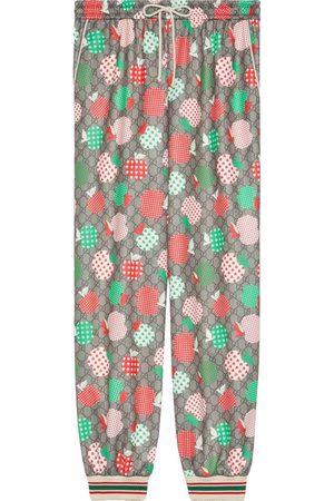 Gucci GG apple-print tack pants - Neutrals