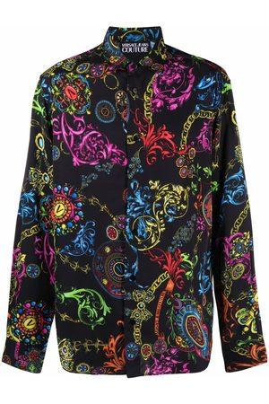 VERSACE Men Long sleeves - Regalia Baroque-print long-sleeve shirt