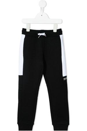 HUGO BOSS Boys Sweatpants - Contrast-panel joggers