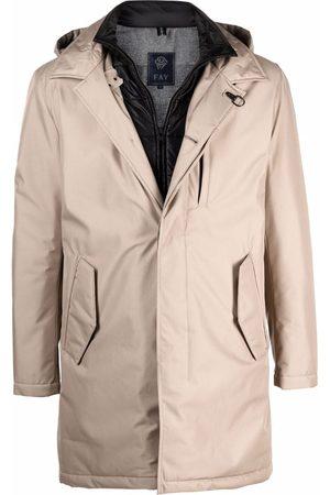 FAY Flap-pockets hooded parka - Neutrals