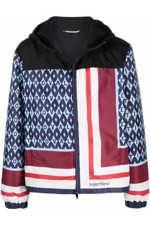 VALENTINO Men Rainwear - Graphic-print zip-fastening jacket
