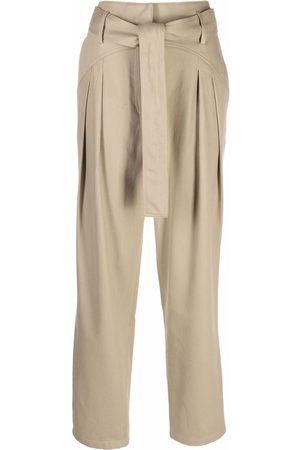 IRO Women Straight Leg Pants - Tied-waist trousers - Neutrals