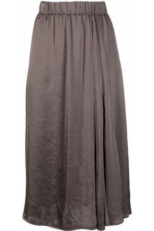 Luisa Cerano Asymmetric drape skirt - Grey