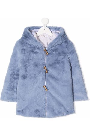 Lapin House Girls Coats - Reversible faux-fur hooded coat
