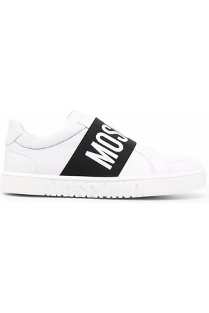 Moschino Women Sneakers - Logo-strap low-top sneakers
