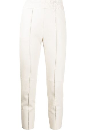 SPRWMN Women Leather Pants - Skinny leather trousers - Neutrals
