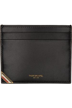 Thom Browne Women Wallets - Black Double Sided Card Holder