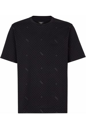 Fendi Logo polka dot T-shirt